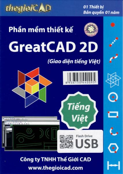 Bảng giá Phần mềm thiết kế GreatCAD phiên bản tiêu chuẩn 1.0.9.0 - Giao diện tiếng Việt (USB/04/2021) - Bản quyền 01 năm Phong Vũ
