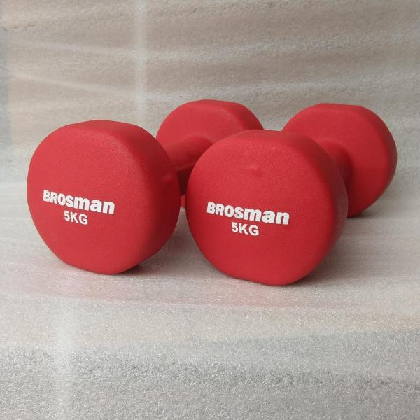Bảng giá Bộ 2 tạ tay Brosman 5 Kg (Đỏ)