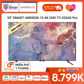 Smart TV Coocaa - model 55S6G PRO android 10.0 4K UHD 55 INCH YOUTUBE Netflix , Prime video thumbnail