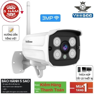 SriHome SH035 3.0Mpx Full HD 1080p Camera IP Wifi giám sát, quan sát không dây - SH035 KING CAMERA thumbnail
