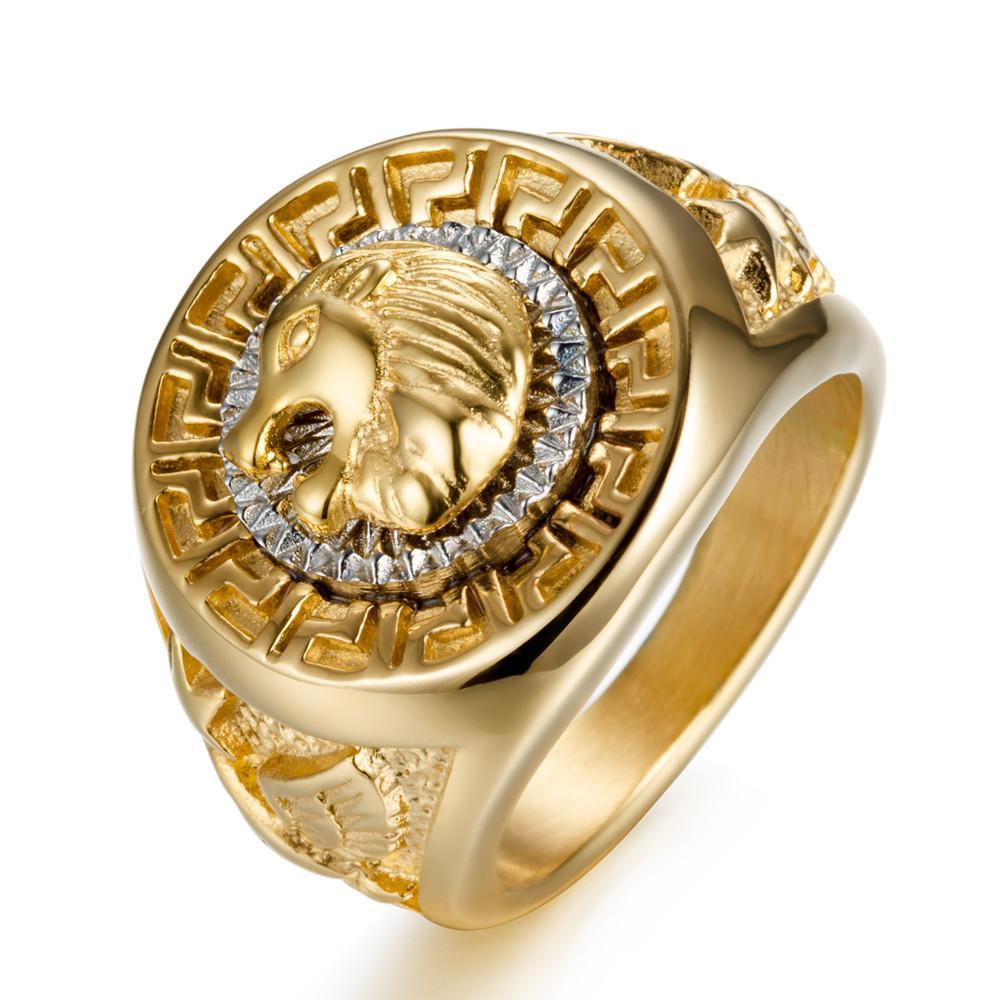 Nhẫn Nam Titan Đầu Sư Tử Oai Phong  Dũng Mãnh Cực Chất RBSUTU Nhật Bản