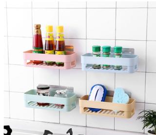 Kệ nhựa treo tường nhà tắm, nhà bếp dán tường chịu lực Tl201 thumbnail