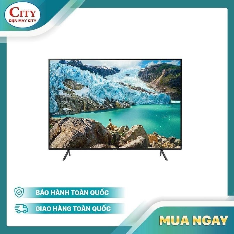 Bảng giá Smart TV Samsung 4K UHD 43 inch - Model UA43RU7100 (2019) - Công nghệ hình ảnh HDR, UHD Dimming, Purcolour + Điều khiển Tivi bằng điện thoại