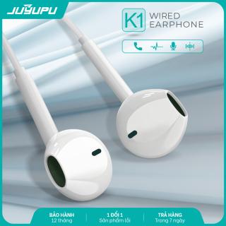 Tai nghe JUYUPU K1 jack 3.5mm nhét tai chống ồn chính hãng dành cho iPhone Samsung OPPO VIVO HUAWEI XIAOMI tai nghe có dây thumbnail
