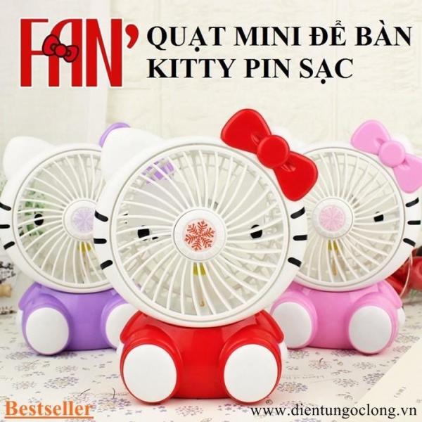 Quạt Mini Để Bàn Kitty Pin Sạc SQ-1881
