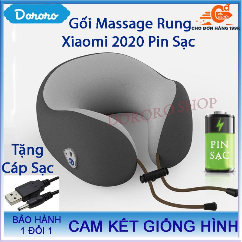 Gối Massage Cổ Cao Cấp Xiaomi 2020 Bản Dùng PIN Sạc[Tặng Kèm Cáp Sạc Trị Giá 39K] gối massage; gối massage hồng ngoại; gối massage magic; máy massage; máy massage xiaomi - DORORO SHOP