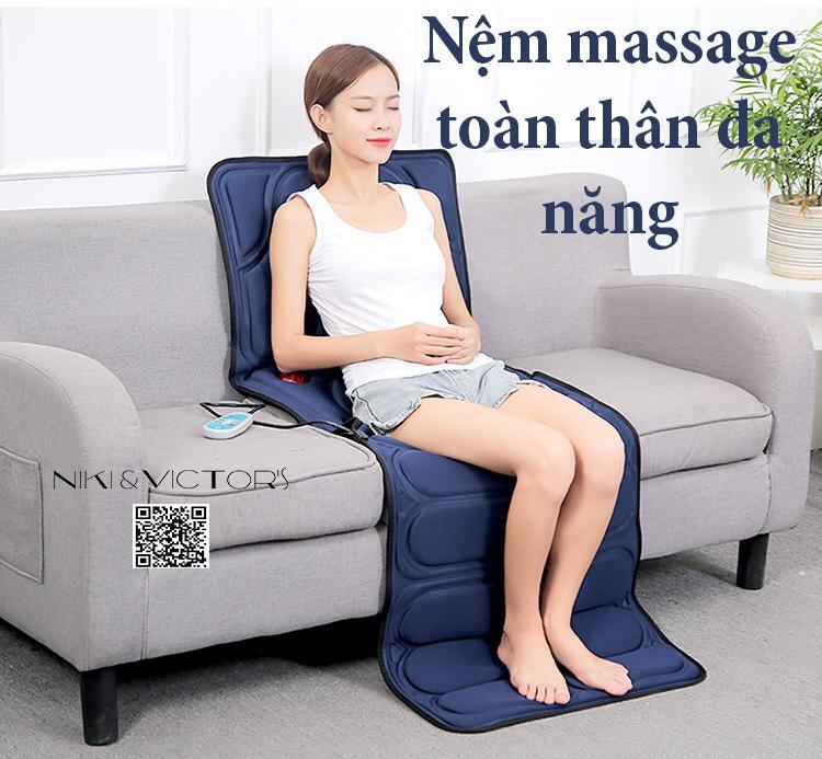 Nệm massage nhiệt hồng ngoại toàn thân cao cấp ASL-755 chính hãng