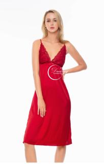 Dreamy VD01-70 - Váy ngủ lụa cao cấp, váy ngủ dáng dài, váy ngủ lụa phối ren quyến rũ, váy ngủ gợi cảm, váy ngủ sexy, váy ngủ màu đỏ đô thumbnail