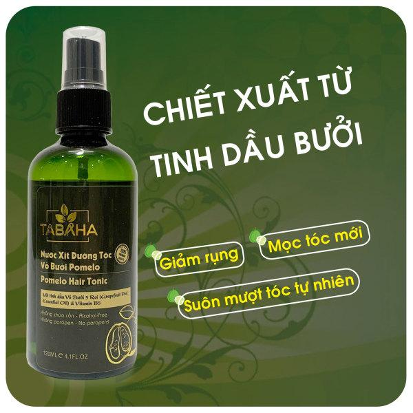 Tinh dầu bưởi dưỡng tóc Pomelo TABAHA 120ml, chống rụng tóc, giúp mọc tóc Pomelo thành phần chiết xuất từ Vỏ bưởi Năm Roi & Vitamin B5