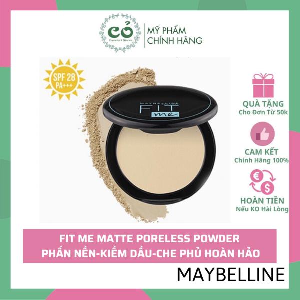 Phấn Nền Dạng Nén Che Phủ , Kiềm Dầu Hiệu Quả Maybelline Fit Me Matte Poreless Powder SPF28 /PA+++ (Vỏ vuông) giá rẻ