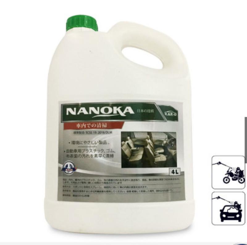 Vệ sinh nội thất Nanoka công nghệ Nhật Bản can 4L