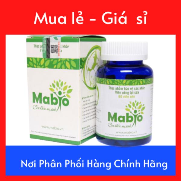 Viên uống Lợi sữa Mabio Hộp 60 Viên - Kích thích sự tiết sữa mẹ và Tăng cường chất lượng sữa mẹ- Hỗ trợ Triệu Chứng Tắc Sữa Sau Sinh
