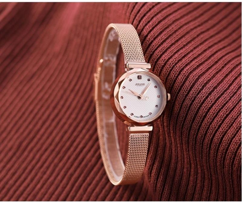 Đồng hồ nữ Julius Hàn Quốc JA-829C dây thép