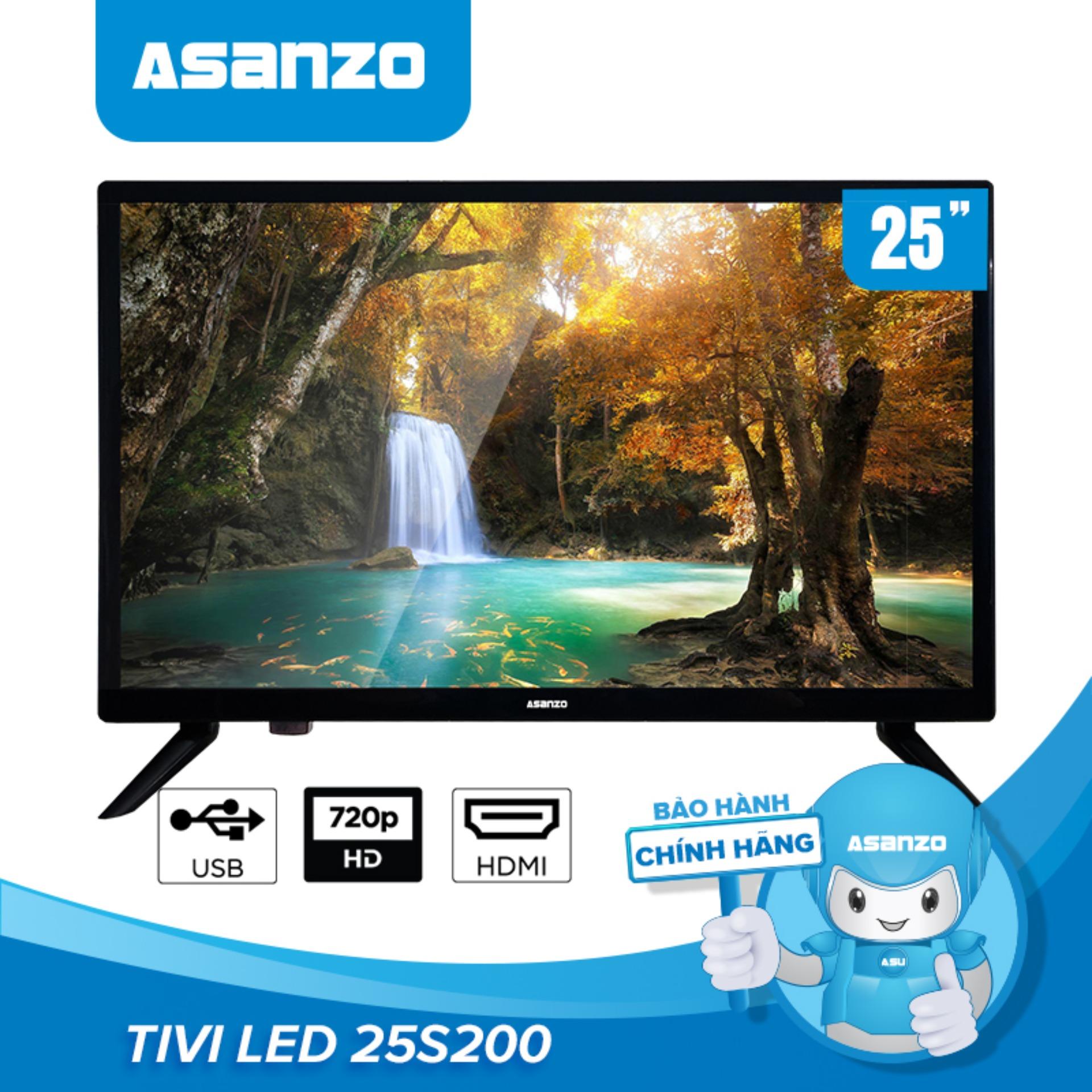 Tivi LED HD 25 Inch Asanzo 25S200T2 (HDMI, VGA, AV, Truyền Hình Số Mặt đất, Âm Thanh Vòm Ảo Dolby) - Bảo Hành 2 Năm Duy Nhất Khuyến Mại Hôm Nay