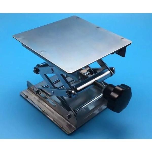 bàn nâng bình cầu bằng thép không gỉ 30x30 cao cấp