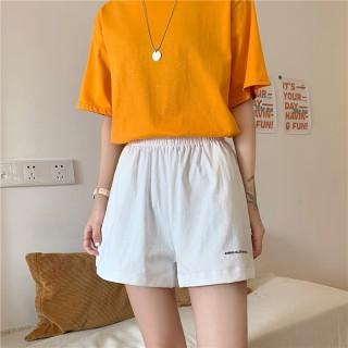 Quần Short Unisex cạp chun - Quần đùi nữ màu Trắng Đen - Chất vải đũi xước [HOT 2021] mềm mại thoáng mát SchoolF thumbnail