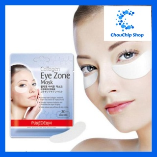 Combo 3 Gói mặt nạ dưỡng mắt Purederm Collagen Eye Zone Mask 30 sheets gói thumbnail