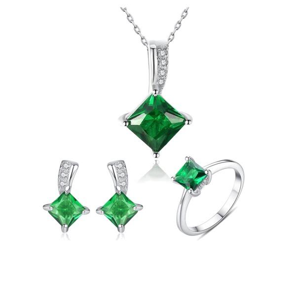 Bộ Trang Sức Ngọc Lục Bảo Quyền Quý BNT-603 Bảo Ngọc Jewelry