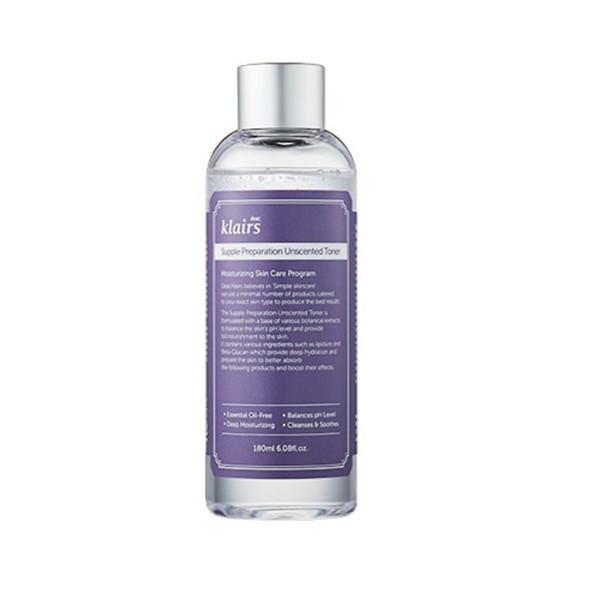 [Toner Klairs Không Mùi] Nước Hoa Hồng Không Mùi Klairs Supple Preparation Unscented Toner 180ml nhập khẩu