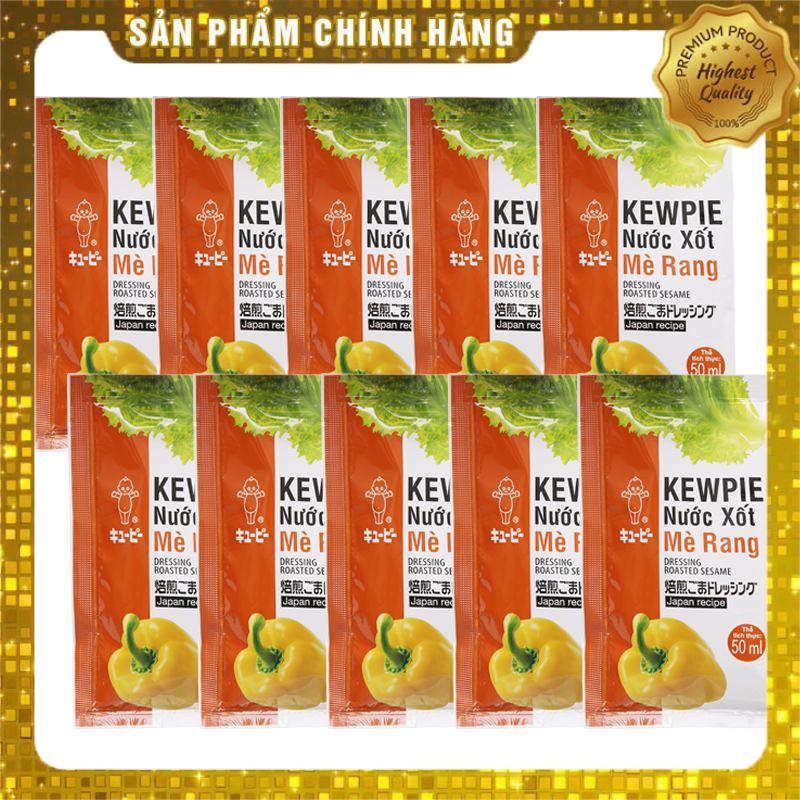 Combo 10 Gói Xốt Salad Mè Rang Kewpie Gói 15ml - Ăn Giảm Cân KETO