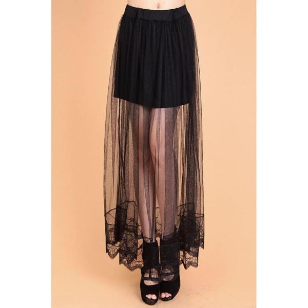 Chân váy Maxi ren mềm mại