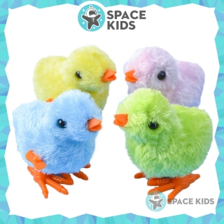 Đồ chơi gà con vặn dây cót cho bé, Đồ chơi trẻ em vận động Space Kids, chất liệu nhựa ABS thumbnail