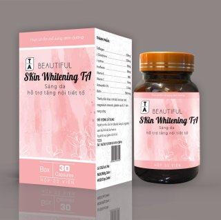 Viên Uống Trắng Da Nhanh Hiệu Quả Skin Whitening TA Giúp da sáng mịn trắng hồng, làm giảm quá trình lão hóa da, hết nám da, tàn nhang , Tăng nội tiết tố thumbnail