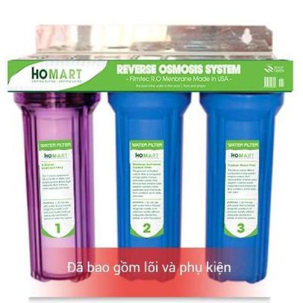 Bộ lọc nước sinh hoạt - lọc thô đầu nguồn 3 cấp ly 10 inch chuẩn (30c3)