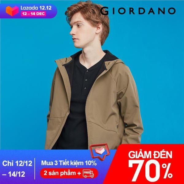 Áo khoác nam jacket đính liền mũ có lớp lót lông mềm mại dày dặn Giordano FreeShip 01079731