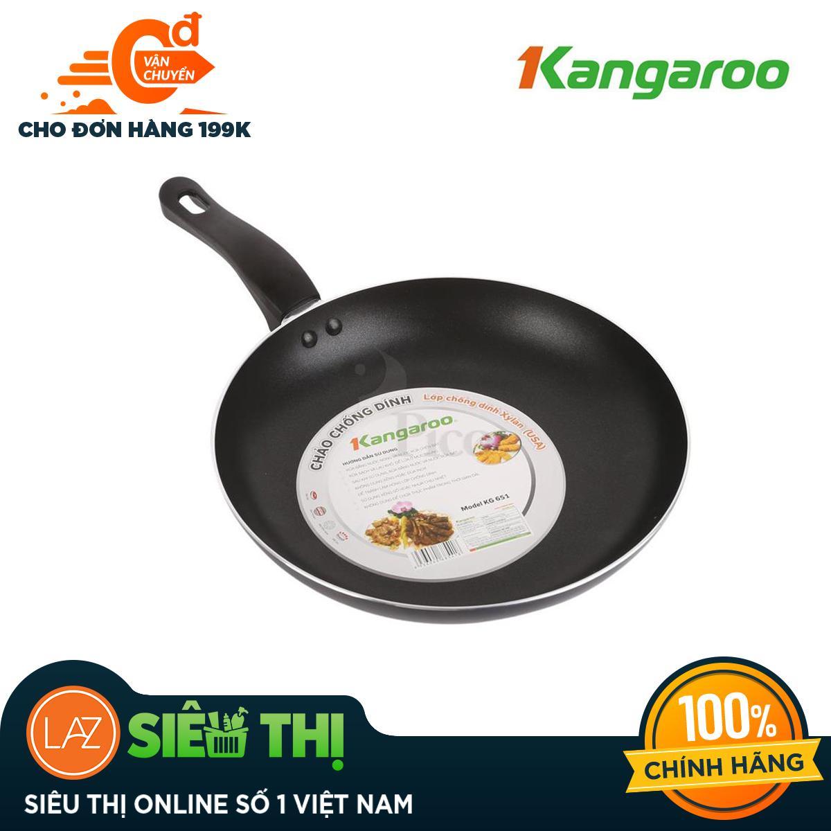 Chảo nhôm chống dính Kangaroo 24cm KG651