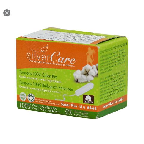 Tampon hữu cơ 4 giọt  không cần đẩy Silvercare cao cấp