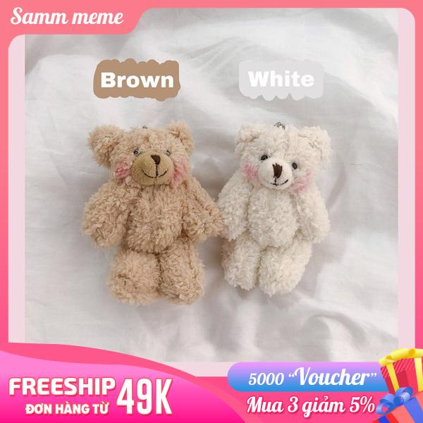 Móc khóa cute cặp - Móc khóa hình thú dễ thương - Móc khóa gấu bông - Móc khóa gấu brown