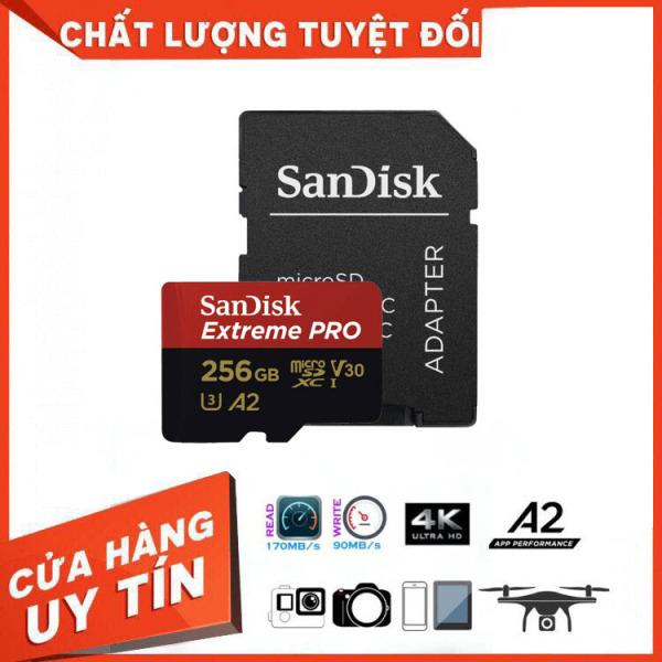 Thẻ Nhớ MicroSDXC SanDisk Extreme Pro V30 A2 256GB 170MB/s SDSQXCZ-256G-GN6MA - Bảo Hành 3 Năm Miên phí Đổi trả 7 Ngày