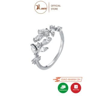 Nhẫn hở dành cho nữ kiểu dánh chiếc lá hình giọt sương ANTA Jewelry - ATJ7007 thumbnail