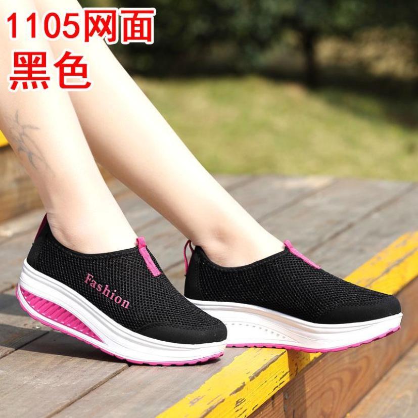 Mẫu Mới Mùa Hè Giày Lười Nữ Giày Lưới Giày Thể Thao Cho Nữ Giày Lười Mặt Lưới Thoáng Khí Giầy Nữ Đế Dày Giày Độn Đế giá rẻ