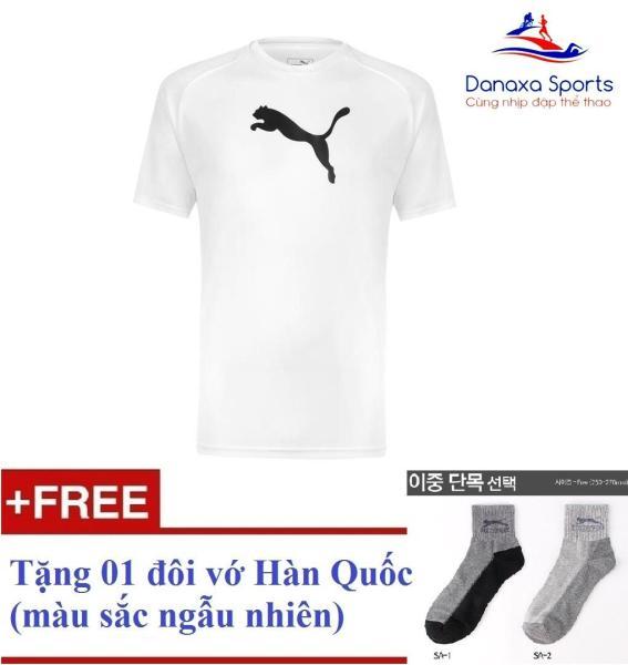 Áo thun thể thao nam Puma Liga (màu Trắng) + Tặng 1 đôi vớ Hàn Quốc