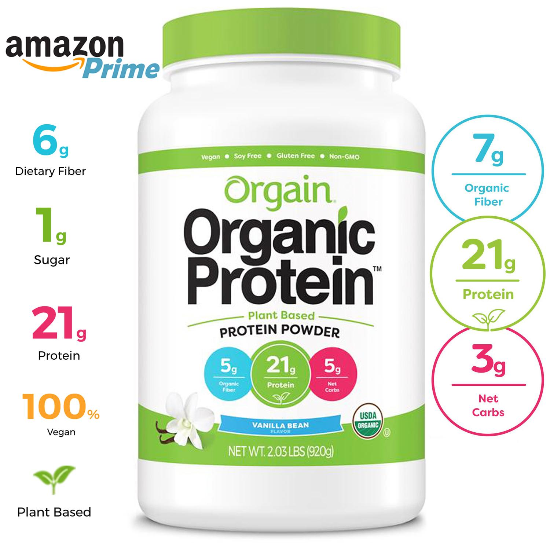 [Gym / Keto/ Vegan / Low Carb] Bột Đạm Dinh Dưỡng Protein Powder Organic - Orgain Protein Mỹ | Dành cho người ăn kiêng, chay, giảm cân