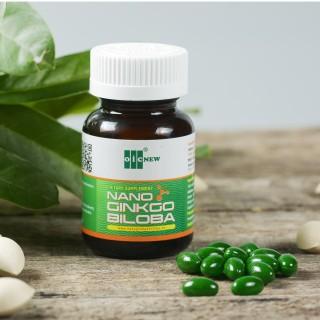 Nano Ginkgo Biloba - Viên uống cải thiện thiểu năng tuần hoàn máu não (Lọ 60 viên nang 550mg) thumbnail