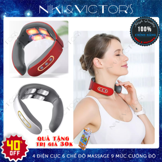 Máy massage vai cổ gáy xung điện 4 điện cực 6 chế độ 9 điểm mạnh thumbnail