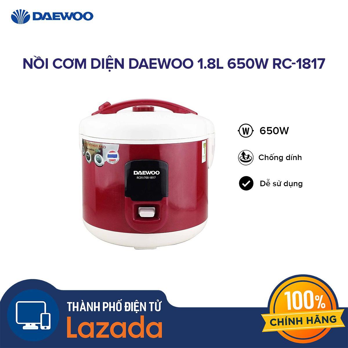 Giá Nồi cơm diện Daewoo 1.8L 650W RC-1817