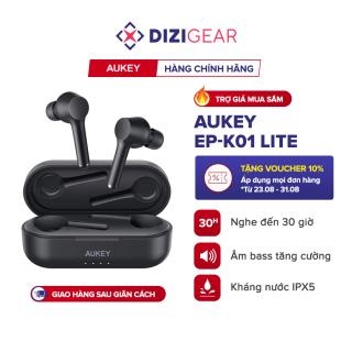 Tai Nghe True Wireless AUKEY EP-K01 Lite Bass Tăng Cường, Bluetooth 5.0, Nghe Đến 30H, IPX5 - Chính Hãng BH 18 Tháng Dizigear thumbnail