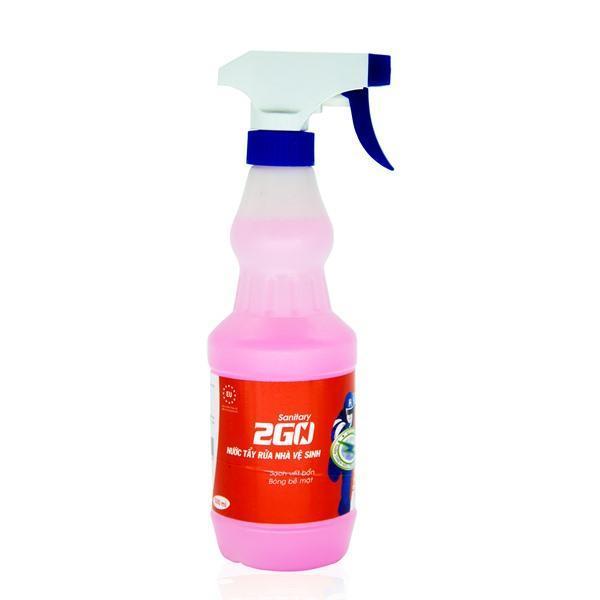 Nước tẩy  Nhà vệ sinh và toilet  Hagleitner 2Go Sanitary 500ml - Tẩy sạch mọi bề mặt
