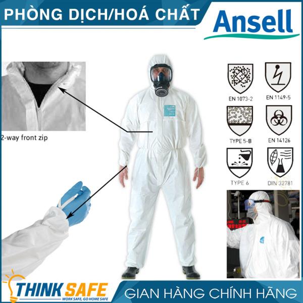 Quần áo phòng dịch AlphaTec 2000, chống hóa chất, chống ẩm rất tốt, chống lấy nhiễm Model 111 (Microgard 2000) - Bảo hộ Thinksafe