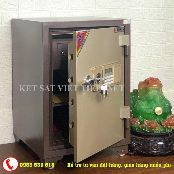 [CHINH HANG]Két sắt Việt Tiệp đúc đặc KV54E khóa điện tử-100kg