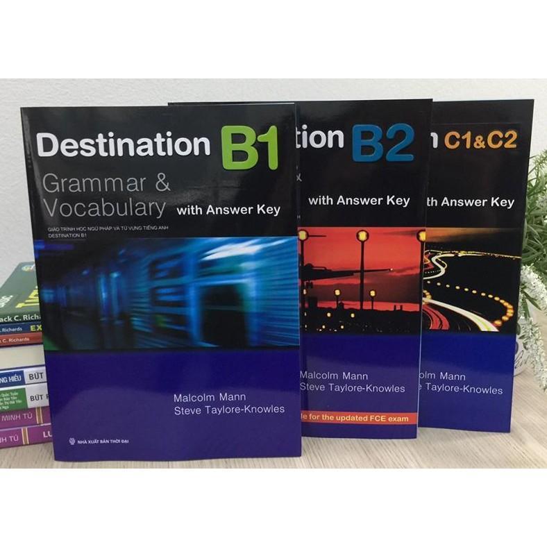 Mua Combo Sách - Destination Grammar & Vocabulary B1, B2 Và C1&C2 (Bộ 3 Cuốn)