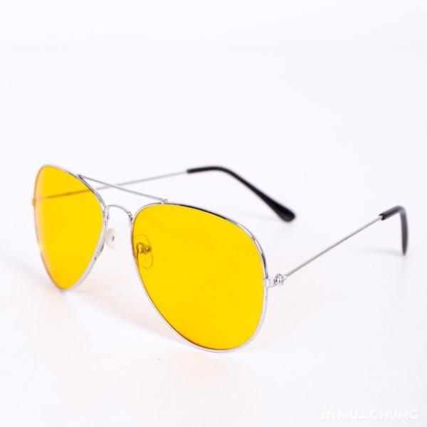 Giá bán [Lấy mã giảm thêm 30%]Kính mát kính thời trang đi đêm Nam Nữ màu Vàng - hàng chính hãng