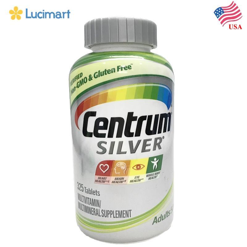 Vitamin Tổng hợp cho người lớn Centrum Silver 50+, 325 viên.