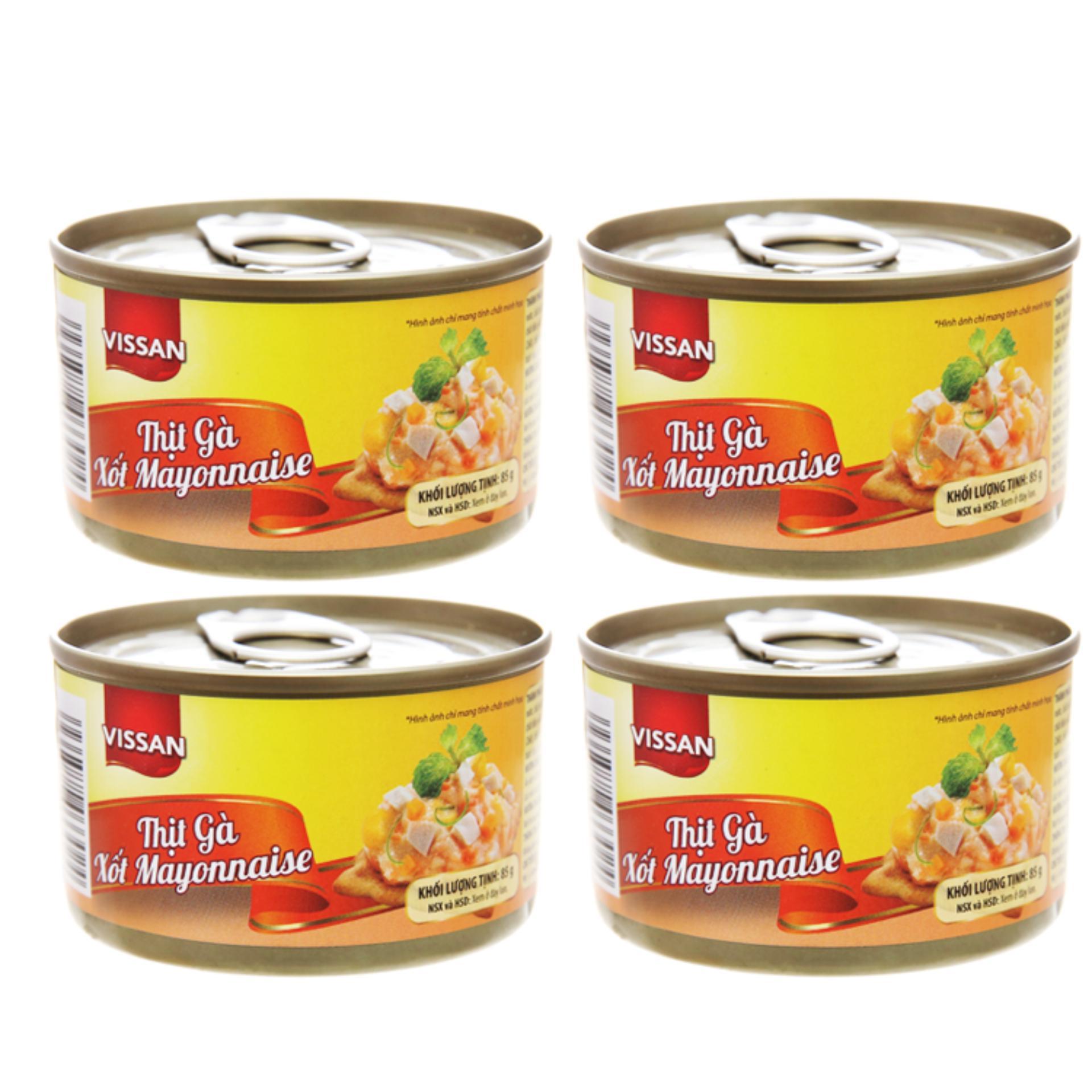 Deal Khuyến Mãi Combo 4 Hộp Thịt Gà Xốt Mayonnaise Vissan (85g)