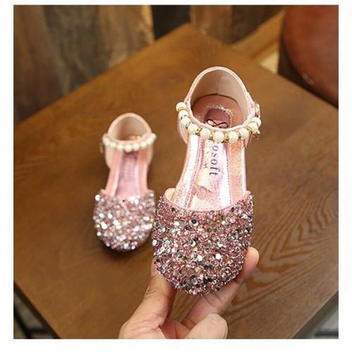 Giá bán Giày bé gái đính đá kim sa cao cấp size 21-36