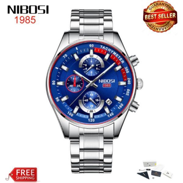 Nơi bán [HCM]Đồng hồ nam dây thép đặc Nibosi 2375 fullbox